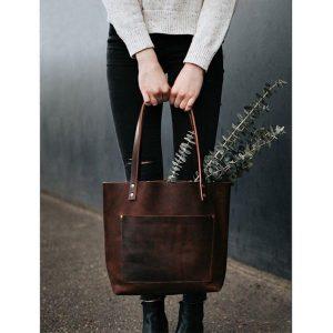 الگوی کیف دستی چرم زنانه tote bag کد 0010