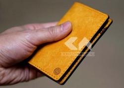 آموزش تصویری دوخت کیف پول چرم مردانه با الگو