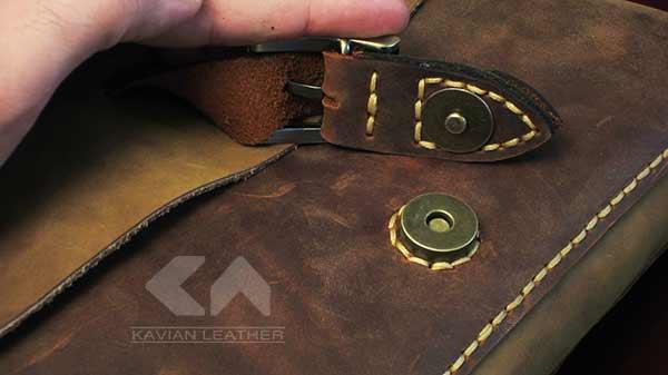 آموزش دوخت کیف چرمی دوشی زنانه